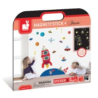 Space Rocket MagnetiStick Glow in the Dark Magnetic Wall Stickers Set