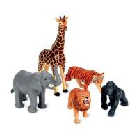 Jumbo Jungle Animals 5 pc Safari Animals Playset