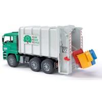 Bruder Toy Garbage Truck - Rear Loading Green