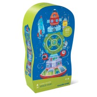 Space Ship 36 pc Floor Tower Puzzle in Shaped Box