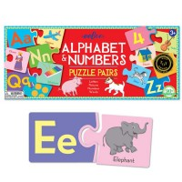 Alphabet & Numbers Puzzle Pairs Matching Game