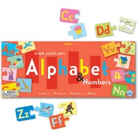 Alphabet & Numbers Puzzle Matching Game