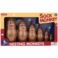 Sock Monkey Nesting Monkeys
