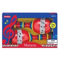 Tin Maracas 2 pc Musical Instrument Toy