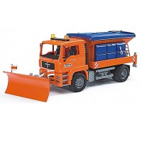 Bruder Toy  MAN Truck with Snow Plow
