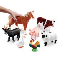 Jumbo Farm Animals 7 pc Figurines Playset