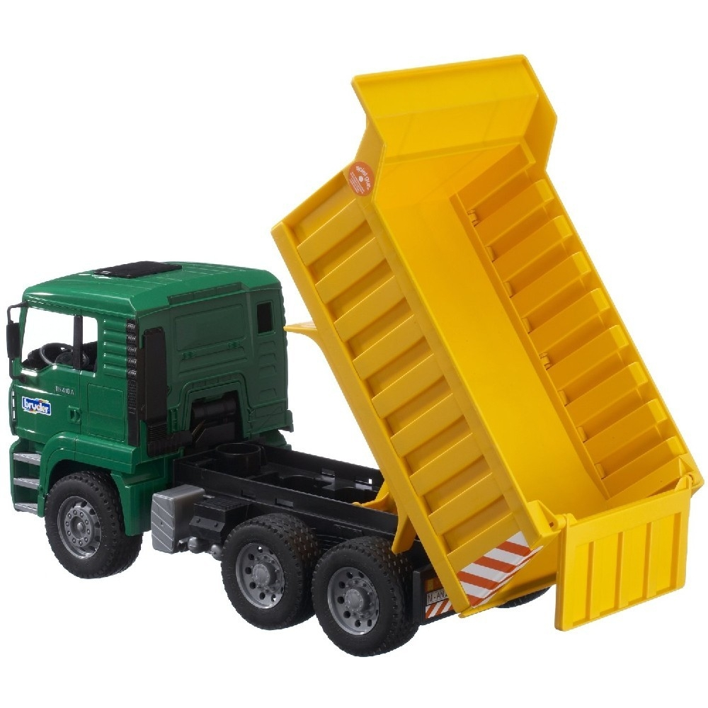 bruder toy man dump truck educational toys planet. Black Bedroom Furniture Sets. Home Design Ideas