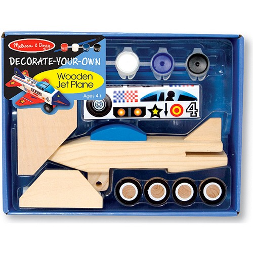 Decorate Wooden Jet Plane Craft Kit - Educational Toys Planet