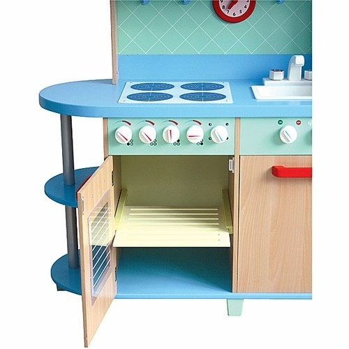 all in one play kitchen deluxe wooden kitchen set