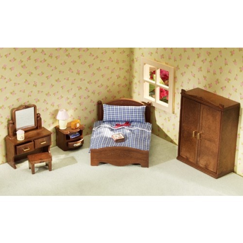 Calico critters master bedroom set educational toys planet Master bedroom set sylvanian