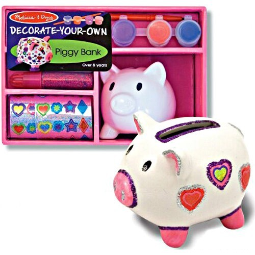 Decorate your own piggy bank craft kit educational toys for Create your own piggy bank