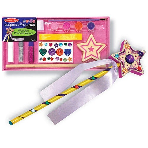 Wooden princess wand craft educational toys planet for Princess wand craft kit