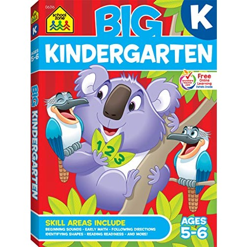 School Zone – Big Kindergarten Workbook – Ages 5 to 6 Early Reading and