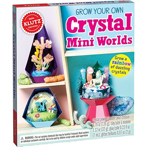 Klutz Grow Your Own Crystal Mini Worlds Science & Activity Kit