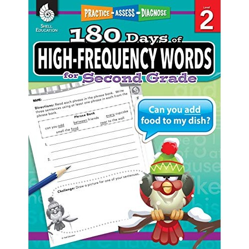 180 Days of High-Frequency Words for Second Grade – Learn to Read Second Grade