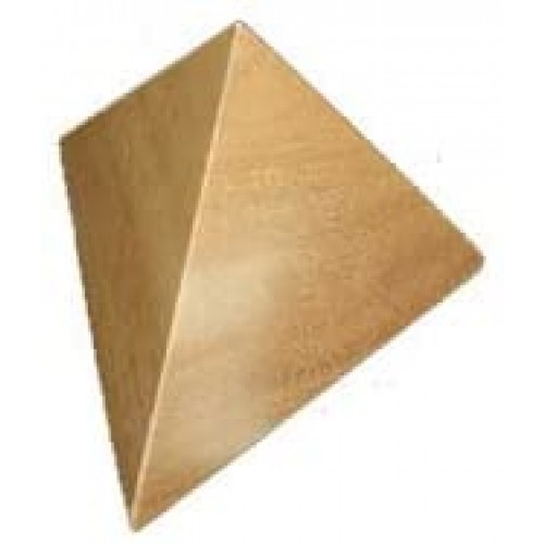 Creative Crafthouse Pyramid Puzzle Size Large 2 Piece Wood And Brain