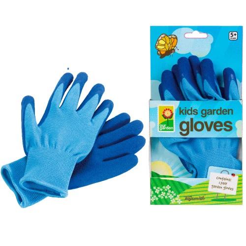 Kids Blue Gardening Gloves