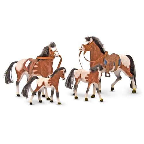 Horse Family 4 pc Figurine Set