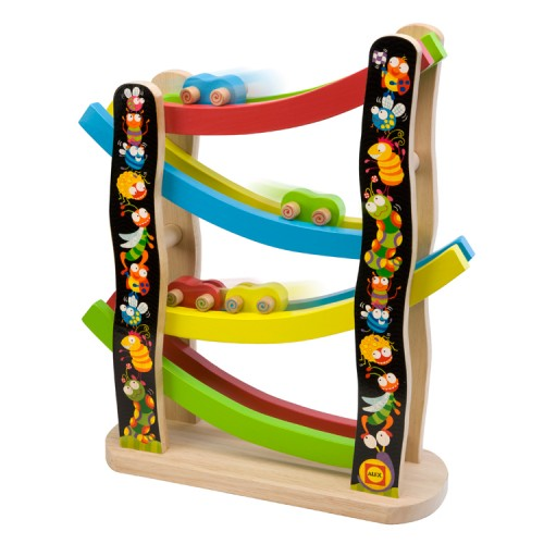 Kids Wooden Ramp Racer Buggy Educational Toys Planet