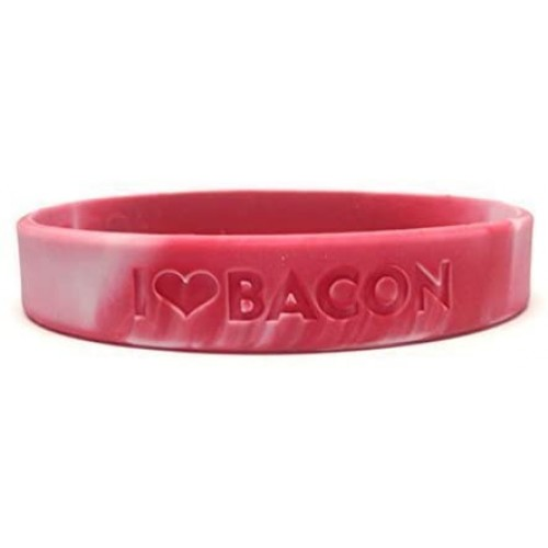 Bacon Love Wristband I Heart Silicone Wrist Band Rubber