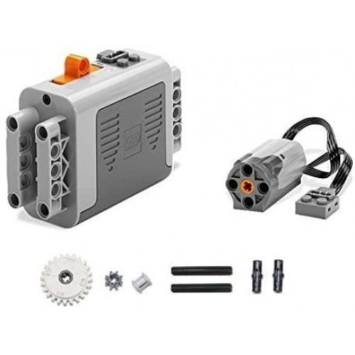 Lego 9Pc Technic Power Functions Battery Box 8881 M Motor 8883 Clutch Gear And Axle