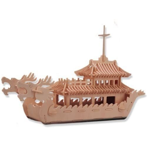 All4Lessshop 3D Wooden Puzzle Dragon Boat Affordable Gift For Your Little One Item