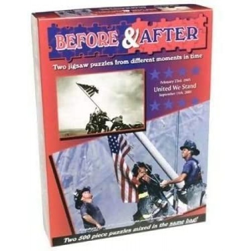United We Stand Before After Jigsaw Puzzle February 23Rd 1945 And September 11Th