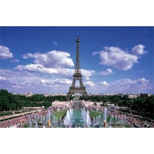 2 Eiffel Tower 1000 Piece Puzzles In One Box Total 2000