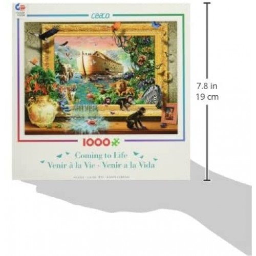 Ceaco Coming To Life Noahs Arc Framed Puzzle 1000