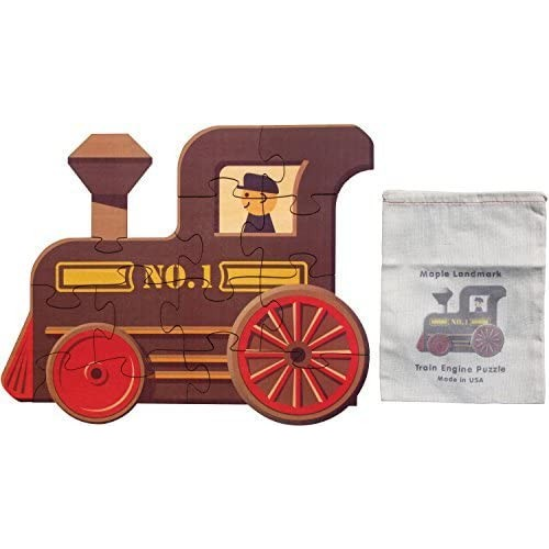 Train Engine Shape Puzzle Made In