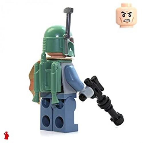 Lego Star Wars Minifigure Boba Fett Bounty Hunter With Blaster