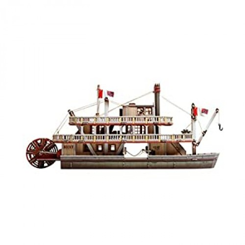 Innovative 3Dpuzzles The Steamboat Wild West Series By Clever Paper