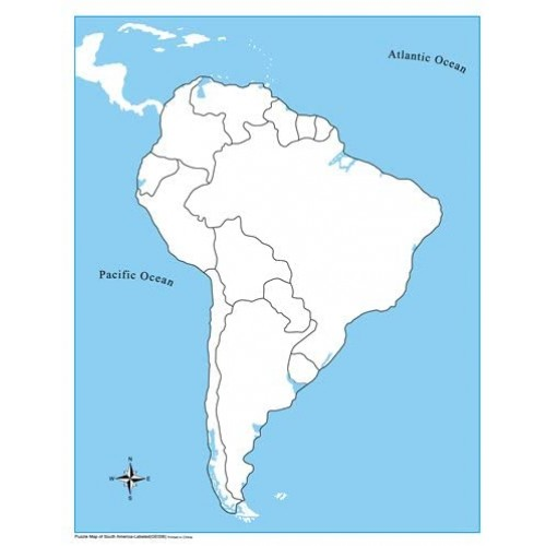 Kid Advance Montessori Puzzle Map Of South America With Control
