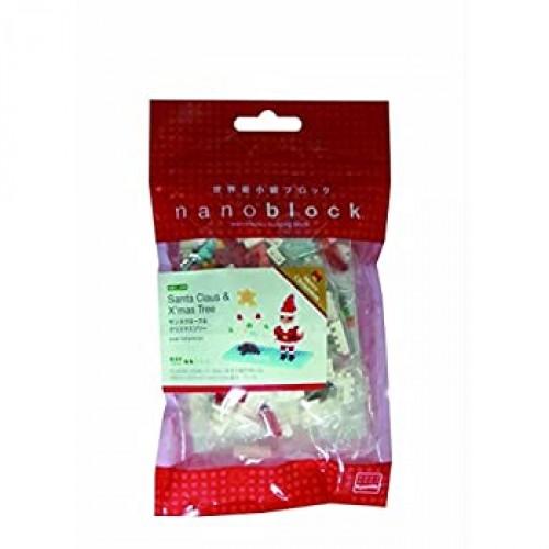 Nanoblock Santa Claus And xmas Tree Puzzle Over 180