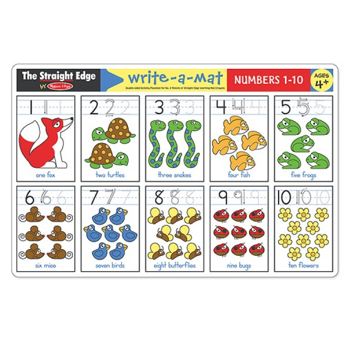 Numbers 1 10 Learning Placemat Educational Toys Planet