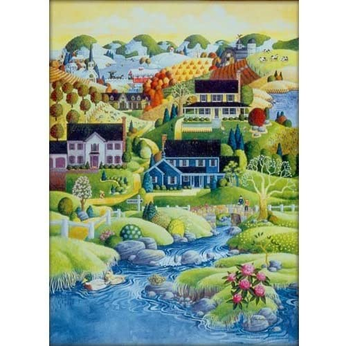 Master Pieces Scenic Route Canterbury Creek Jigsaw
