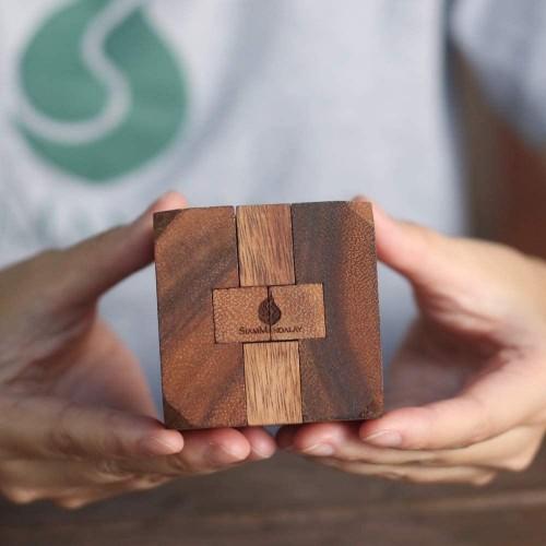 Hidden Passage Wooden Puzzles For Adults 3D Brain Teaser Interlocking Game Handmade Organic