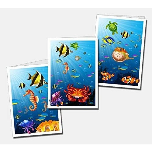 Triazzle Brain Teaser Puzzle Rainbow Sea Bonus Note Cards With Envelopes