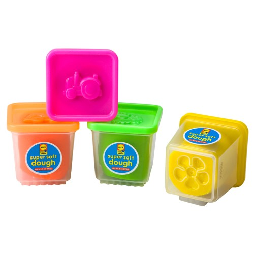 Super Soft Dough 4 Colors Set