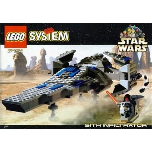 Lego Star Wars Episode 1 Darth Maul Sith Infiltrator Spaceship Set 7151