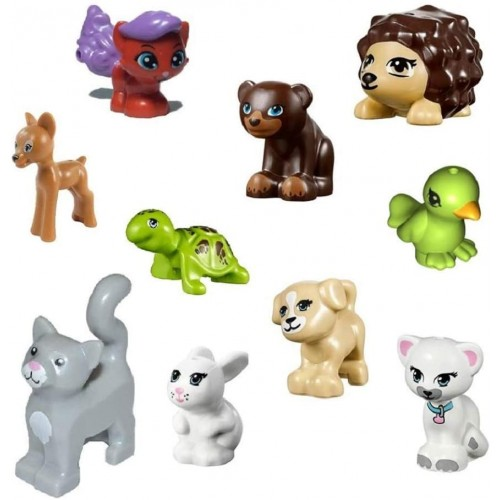Lego Lot Of 10 Friends Animals DogsCats Turtle More