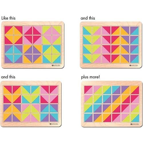 Innovative Kids Green Start Pattern Play Puzzles Topsy Turvy