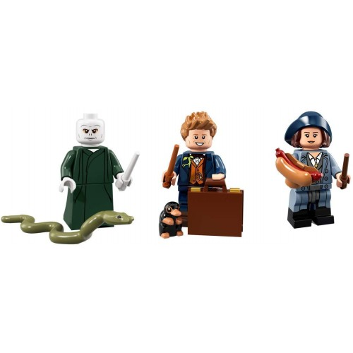 Lego Harry Potter Minifigures Voldemort Newt Scamander And Tina Goldstein Collectible