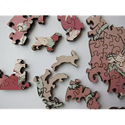 Artifact Puzzles Kozyndan Bunny Blossoms Wooden Jigsaw