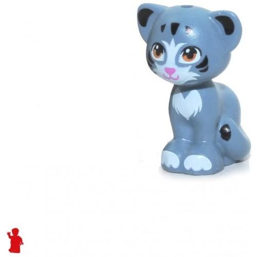 Lego Friends Animals Cat Sitting Sand Blue W Yellow Eyes Fur