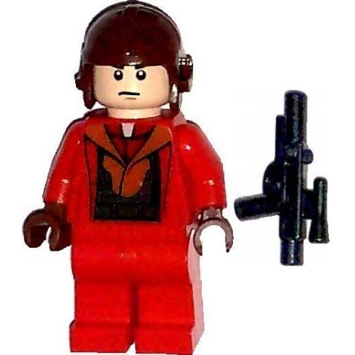 Lego 9674 Star Wars Naboo Pilot Red Suit Minifig
