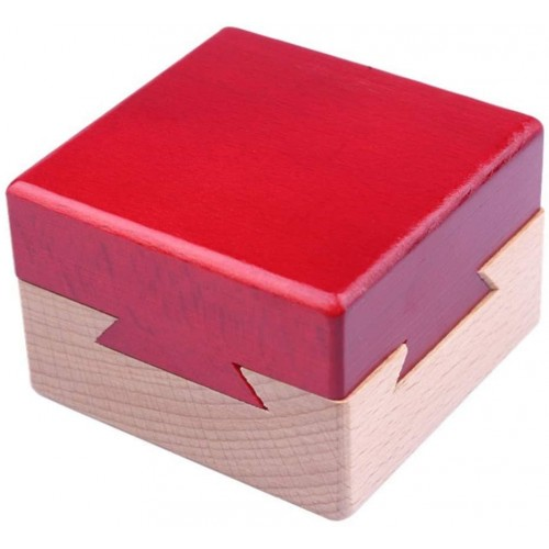 Himine Wooden Magic Mysterious Box Secret Opening Puzzle Gift