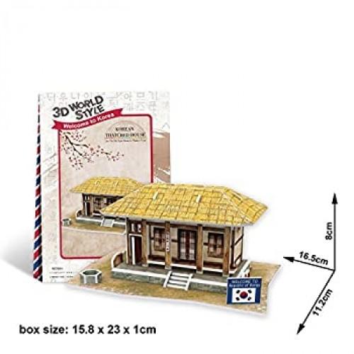 Cubicfun Cubic Fun 3D Puzzle Model 35Pcs Korean Thatched