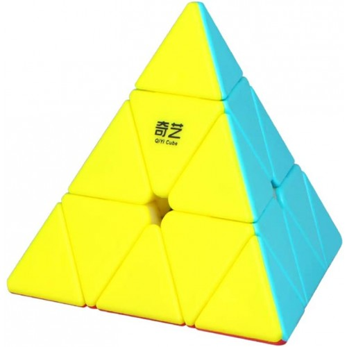 Roxenda Pyramid Speed Cube 3x3x3 Qiyi Qiming Stickerless Frosted Triangle Puzzle