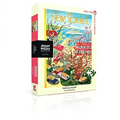 New York Puzzle Company Yorker Tropical Holiday 500 Piece Jigsaw